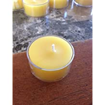 Handmade 100% Organic Beeswax Clear Cup Tea light candles (20)