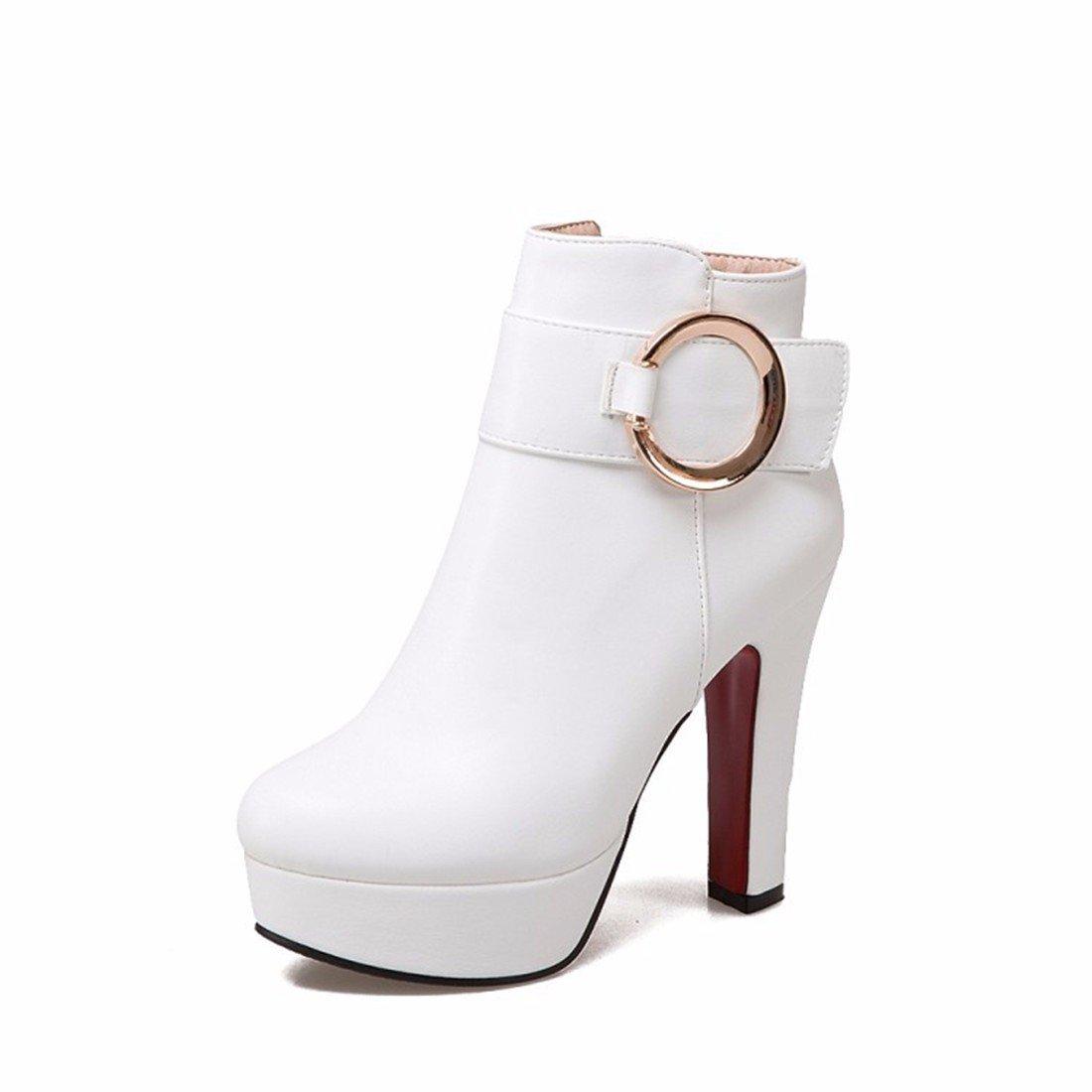 Hembra de otoñ o e Invierno los Zapatos de tacó n Alto Zapatos Botas Impermeables tamañ o