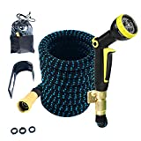 YaeKoo Expandable Garden Hose, Water Hose with 3/4 inch Solid Brass Fittings 9