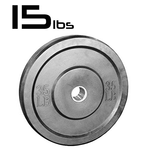 15lb Bumper Weight Plate 2 Inch Amstaff Fitness