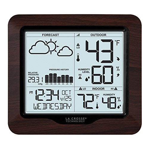 La Crosse Technology 308-1417BL Backlight Wireless Forecast Station with Pressure ()
