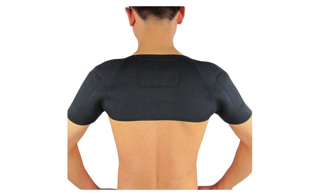 PU Health Pure Acoustics Black Unisex Medical Grade Therapeutic Self-Warming Shoulder Wraps
