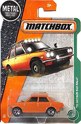 Matchbox 2017 MBX Explorers '70 Datsun 510 Rally 94/125, Orange