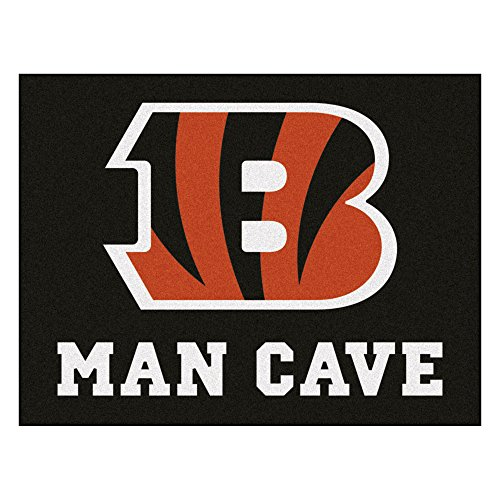FANMATS 14284 NFL Cincinnati Bengals Nylon Universal Man Cave All-Star Mat