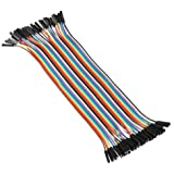 Veewon® Flexible 20cm Multicolored 40 Pin Female to Female Breadboard Jumper Wires Ribbon Cable Wire (Female to Female)