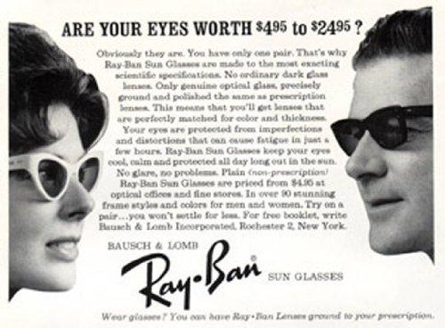 Vintage Ad: 1963 Ray-Ban Sun - Ray Ad Bans
