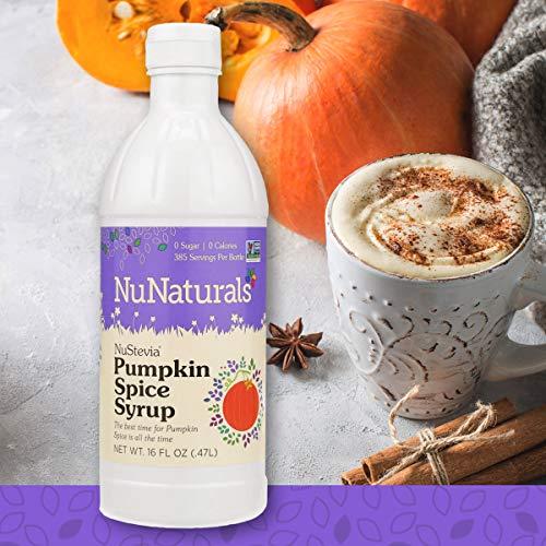 (NuNaturals NuStevia Sugar-Free Pumpkin Spice Syrup Natural Stevia Sweetener with 0 Calories, 0 Sugar, 0 Carbs, 385 Servings (16 oz))