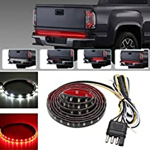 """Xcellent Global 60"""" Red/White Epoxy Thin Tailgate LED Strip Light Bar Waterproof SMD2835-90LEDs Reverse Brake, Turn Signal Light for Truck, SUV, Jeeps, RV AT021"""