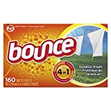 Bounce 80168CT Fabric Softener Dryer Sheets, Box of 160 Sheets (Case of 6 Boxes)
