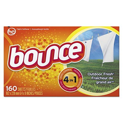 Bounce Fabric Softener Sheets, Outdoor Fresh, 160 (Procter And Gamble Bounce Fabric)