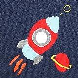 Zubels 100% Hand-Knit Rocket Ship Sweater All
