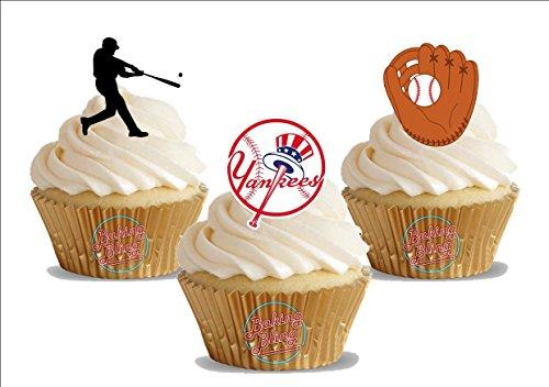 Superb 12 X Baseball New York Yankees Mix Fun Novelty Birthday Premium Funny Birthday Cards Online Benoljebrpdamsfinfo