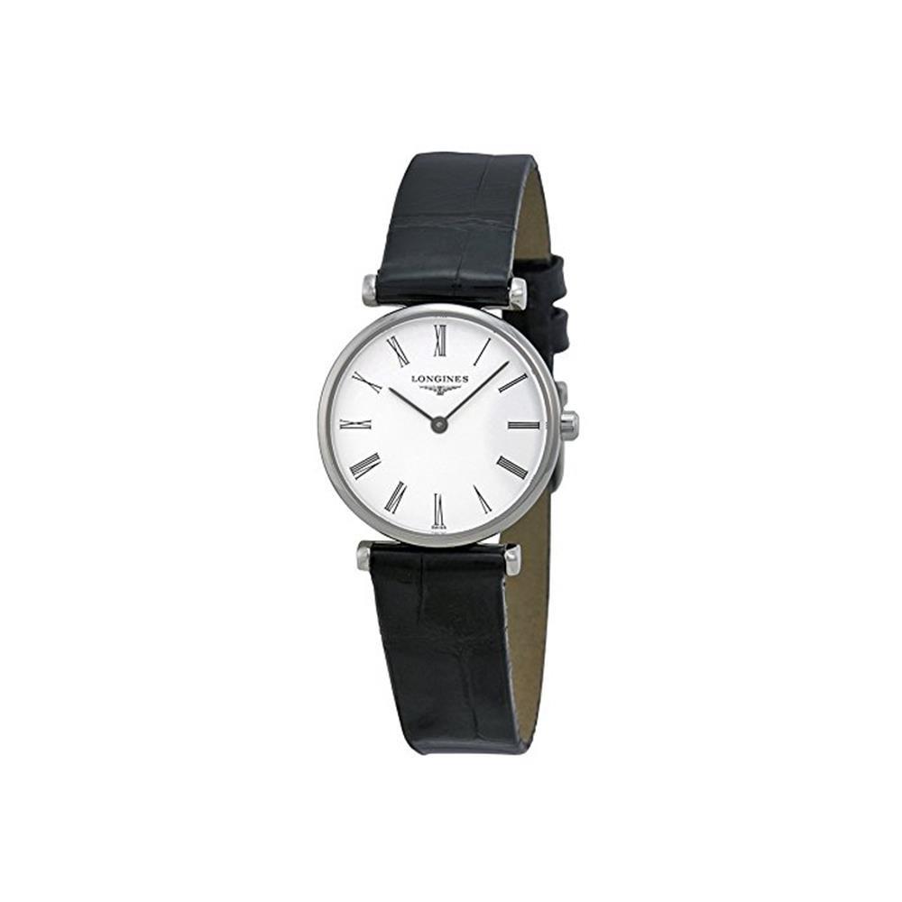 Longines La Grande Classique White Dial Black Leather Ladies Watch L4.209.4.11.2