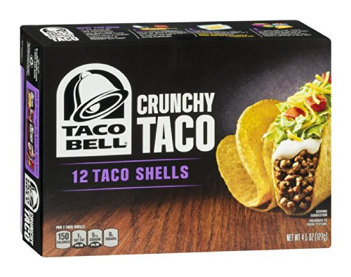 Country Ketchup (Taco Bell Hard Crunchy Taco Shells, 4.5 Ounce -- 12 per case.)