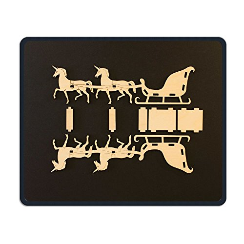 Readyybry Unicorn Sleigh Parts View Comfortable Rectangle Rubber Base Mousepad Gaming Mouse (Sleigh Base)