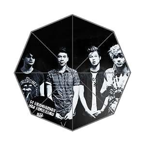 Hot Sale Rain Sun Umbrella Five Seconds Of Summer SOS 43.5 inch Foldable Umbrella Surprise Prensent for Kid Friend