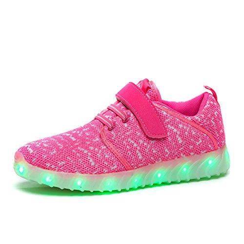 xi wei hu Girls Boys USB Led Light up Shoes