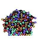 PryEU Colored Outdoor Twinkle String Lights 100 LED 39.4Ft 12M Powered with Seawater/Salt-water Not Solar for Outside Gazebo Garden Yard Driveway Patio Xmas Mood Lighting