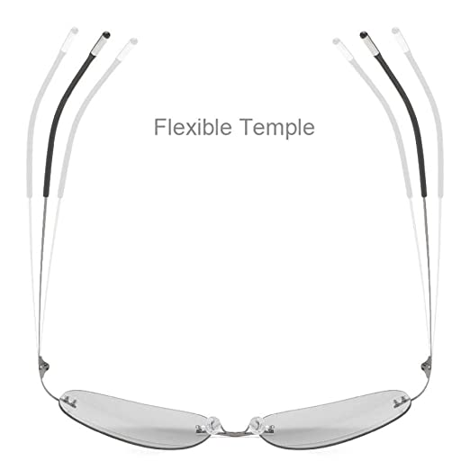 Amazon.com: Gafas de sol polarizadas de titanio para hombre ...