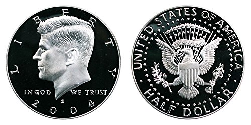 2004 S US Mint Deep Cameo Kennedy Silver Proof Half DCAM