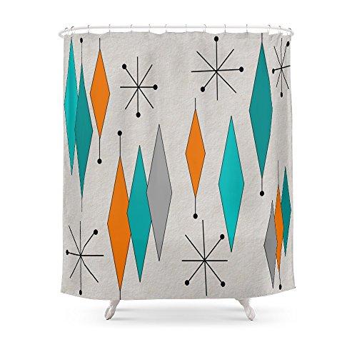 Society6 Mid-Century Modern Diamond Pattern Shower Curtain 51Z2RYGVj9L
