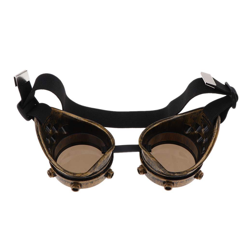 B Baosity Gafas Cibernéticas Steampunk con Correa Elástica para Ciclismo Actividad al Aire Libre - Oro Antiguo: Amazon.es: Juguetes y juegos