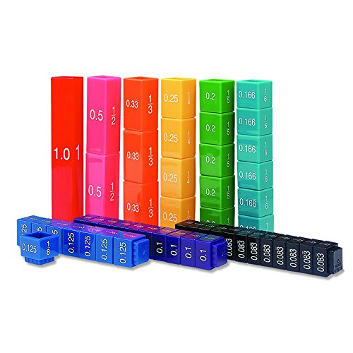 (6 Pack LEARNING RESOURCES FRACTION TOWER CUBES FRACTION EQUIV)