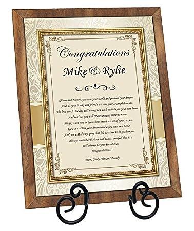 Amazon.com - Congratulation New Homeowners Housewarming Gift Poem ...