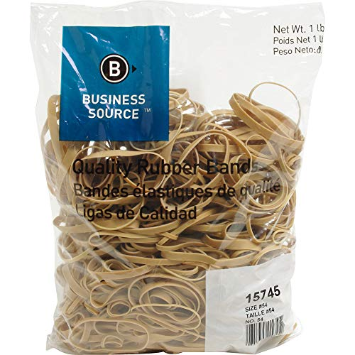 Rubber Bands, Size 54, Assorted Length Sizes, 1lb Pack