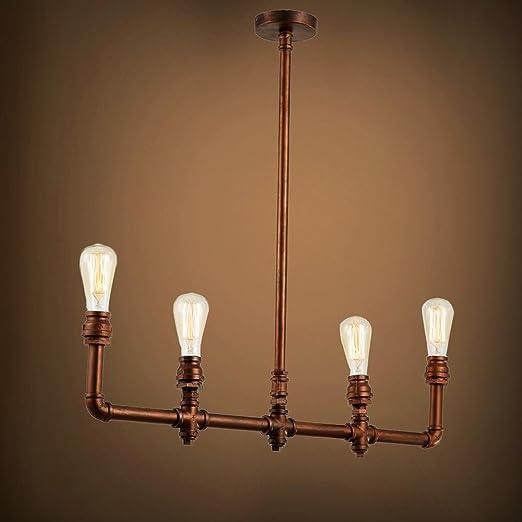 Vintage tubo de cobre industrial de fijación lámpara de ...