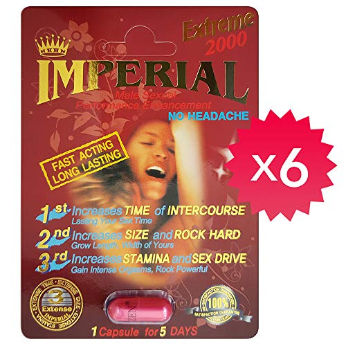 *Special* Imperial Extreme 2000 Male Enhancement Pill. Natural & Effective! (6) (Sex Power Man)
