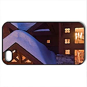 Snowed In - Case Cover for iPhone 4 and 4s (Watercolor style, Black)
