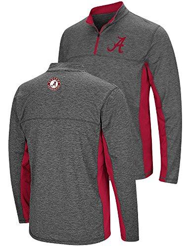(Alabama Crimson Tide Charcoal Mens Milton Quarter Zip Synthetic Windshirt (X-Large))