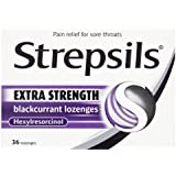 Strepsils Extra 24 Blackcurrent Lozenges