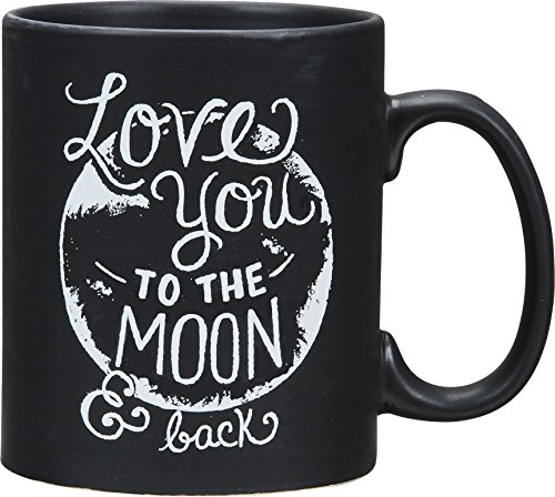 Primitives By Kathy Love You to the Moon Coffee Tea Stoneware Mug or Cup 20oz 4.5 Inches Tall By 5 Inches Wide Including Handle