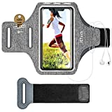 JETech Cell Phone Armband Case for iPhone 11/11 Pro/XR/XS/X/8 Plus/7 Plus/8/7/6s/6, Galaxy S10/S9/S9+, Adjustable Band, Equipped with Key Holder and Card Slot, for Running, Walking, Hiking