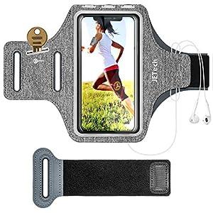 JETech Brassard de Sport Compatible avec Téléphone jusqu'à 6,2 Pouces, Bande Ajustable et d'une Fente pour Carte, pour…
