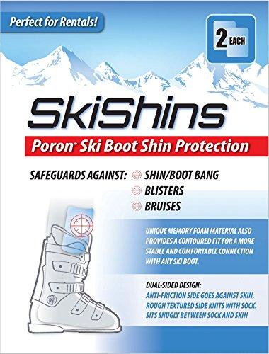 SkiShins - Poron Skiing Shin Guards / Protector Pads for Shinbang / (Skiing Shin Guards)