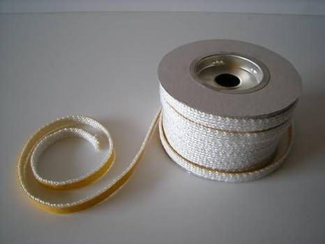 Junta térmica plana adhesivo 10 x 2 mm estufas de leña Pellets Kit de 2,