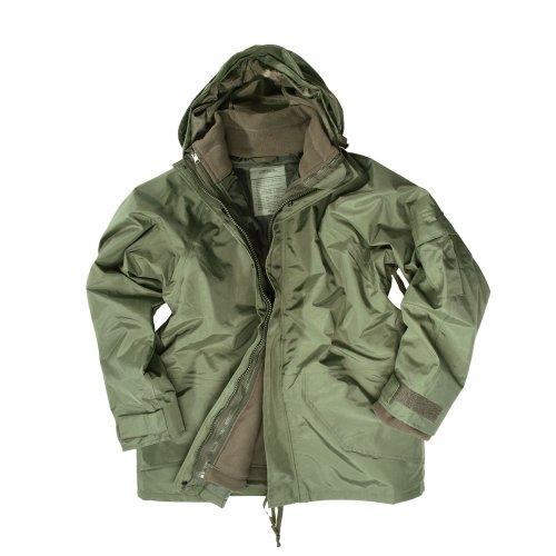 Mil-tec veste de protection contre l'humidité avec doublure en polaire-vert olive-taille l
