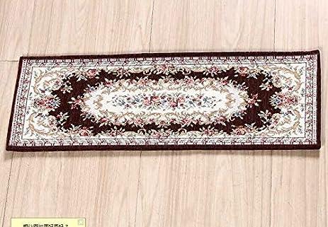 Acrylic Non Slip Stair Runner Rug Stair Treads Carpet Door Mat Custom Size  (Set