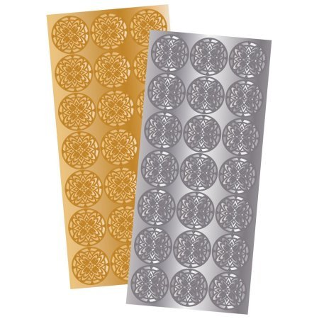 3 Pack of 2 Quality Park 21 Gold and 21 Silver Decorative Foil Envelope Seals by Maven Gifts by Essendant (Image #2)