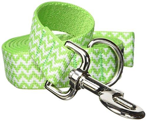 fabdog Chevron Stripe Dog Lead, Eco-Friendly Dog Leash (Green, Large)