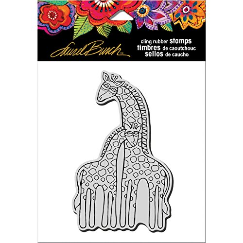 Stampendous Wood New - STAMPENDOUS Laurel Burch Rubber Stamp, Giraffes