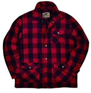 Irish Setter Men's Deer Camp Jacket, Red/Black Plaid, Large