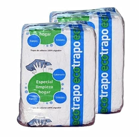 Trapo de algodón Ecotrapo sábana para limpieza o cubremopas. 2 kg: Amazon.es: Hogar