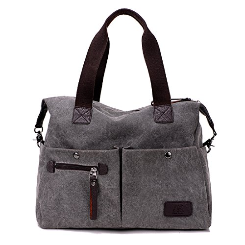 compras hombro lona del multi Bolso Bolsos oficina la bolsillo de mujeres que Hobo Bolso las escuela la de de de la lona para de gris grandes de la viaja 8vzqvwpxE