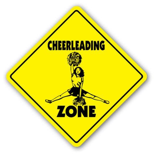 [SignJoker] CHEERLEADING ZONE Sign novelty gift cheerleader Wall Plaque Decoration]()