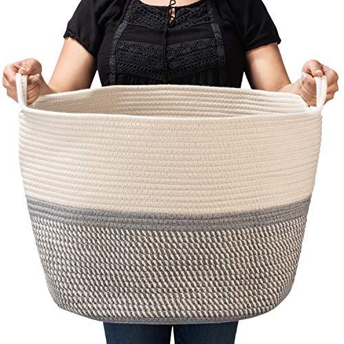 (BASKETCASE XXXLarge Cotton Rope Basket Large (21.7