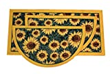 Kashi Home Sunflower 3pc Kitchen Rug Set, (2) Slice 18''x30'' Rugs, (1) 20''x40'' Mat, Non-Slid Latex Back